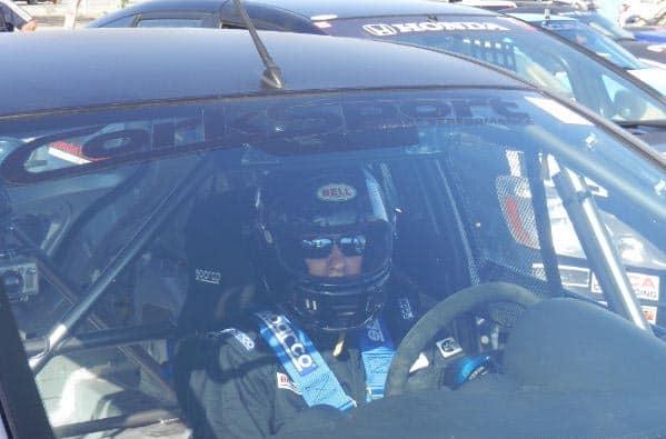 Derrick Ambrose in CorkSport Mazda 2 racecar
