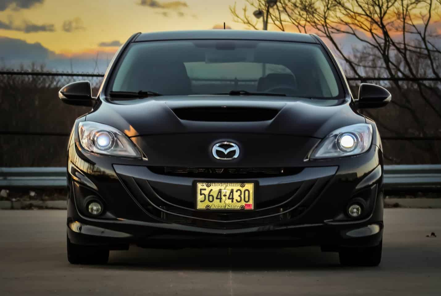 Joe-Perry-2011-Mazdaspeed-3-CorkSport-Featured-Mazda-Speed-3-Car-Rear-Grinning-Face