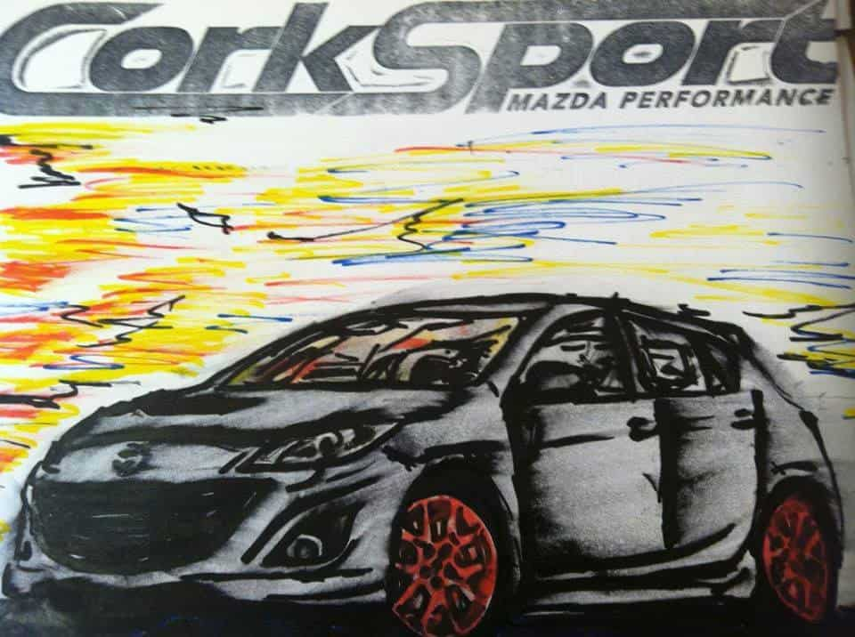 mazdaspeed-3-drawn-kim-corksport-hand-painting-mazda