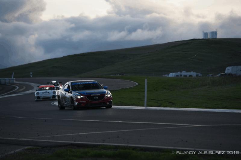Mazda Sedans drive into the night