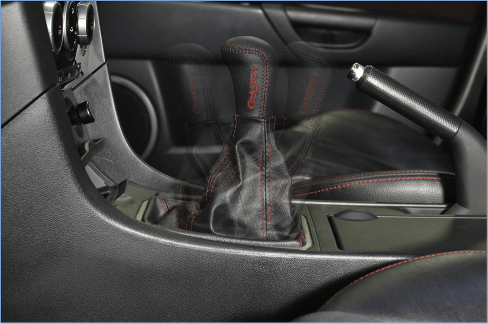 This image shows the forward, neutral, and back positions of the OEM shifter.