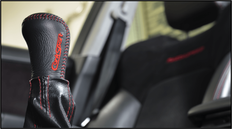 Side View of Mazda Shift Knob
