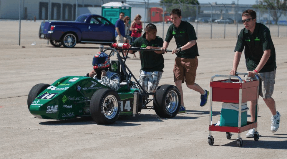 Pushing an FSAE Race Car