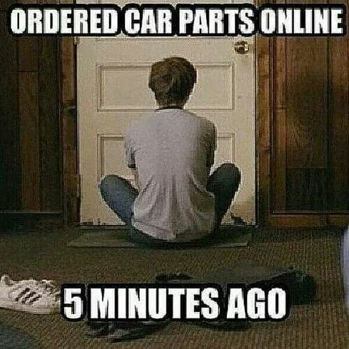 Waiting for New Car Parts