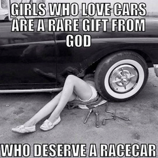 Girls that love cars