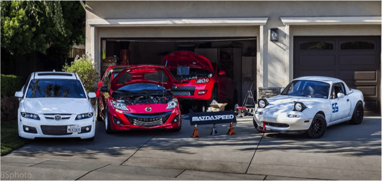 Corksport Mazdaspeed in Garage