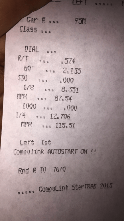 CorkSport built for speed receipt