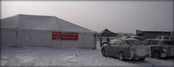 Thayer Mazda tent at the Sno-Drift Rally