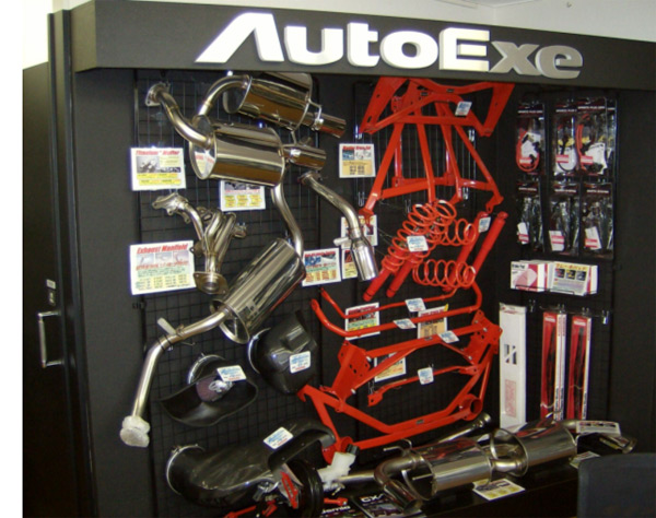 AutoExe Display at a Japanese Dealership